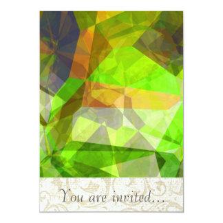 Polígono abstratos 23 convite 12.7 x 17.78cm
