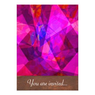 Polígono abstratos 240 convites personalizados