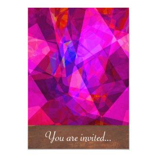Polígono abstratos 240 convite 12.7 x 17.78cm