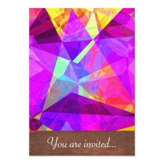 Polígono abstratos 241 convite 12.7 x 17.78cm