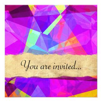 Polígono abstratos 241 convites