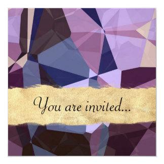 Polígono abstratos 243 convite quadrado 13.35 x 13.35cm