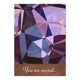 Polígono abstratos 243 convite 12.7 x 17.78cm