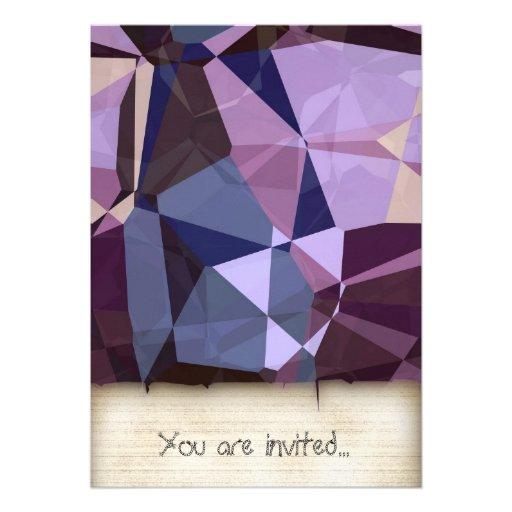 Polígono abstratos 243 convites personalizado