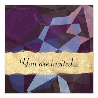 Polígono abstratos 244 convite personalizado