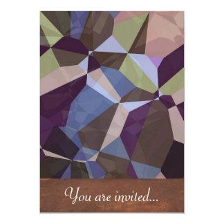 Polígono abstratos 245 convite 12.7 x 17.78cm