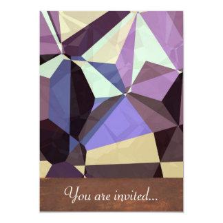 Polígono abstratos 246 convite 12.7 x 17.78cm