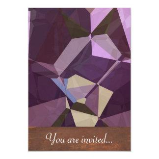 Polígono abstratos 247 convite 12.7 x 17.78cm