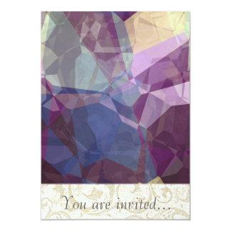 Polígono abstratos 248 convites personalizados