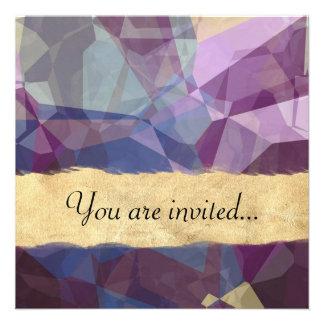 Polígono abstratos 248 convites personalizado