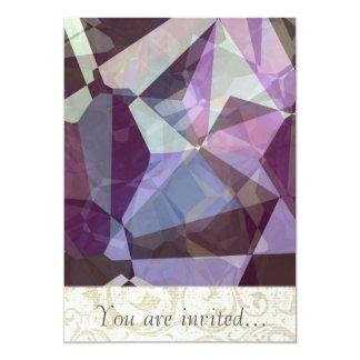 Polígono abstratos 249 convites personalizados