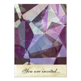 Polígono abstratos 249 convite 12.7 x 17.78cm