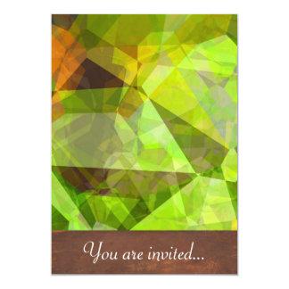 Polígono abstratos 24 convite 12.7 x 17.78cm