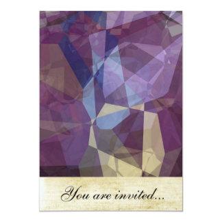 Polígono abstratos 250 convite 12.7 x 17.78cm