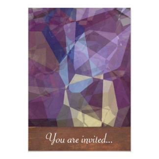 Polígono abstratos 250 convites personalizados