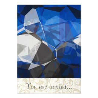 Polígono abstratos 251 convite personalizado