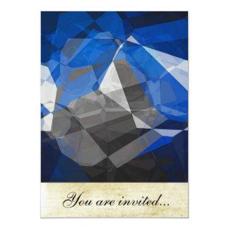 Polígono abstratos 252 convite 12.7 x 17.78cm