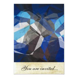 Polígono abstratos 253 convite 12.7 x 17.78cm