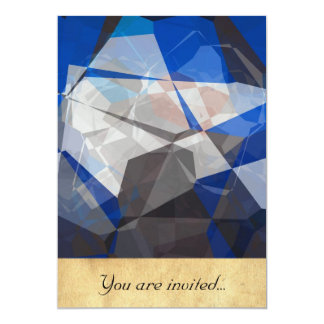 Polígono abstratos 254 convite 12.7 x 17.78cm