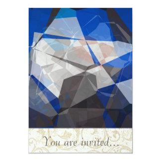 Polígono abstratos 254 convites personalizado