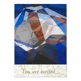 Polígono abstratos 255 convite 12.7 x 17.78cm