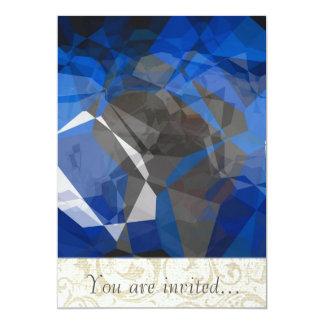 Polígono abstratos 256 convite 12.7 x 17.78cm