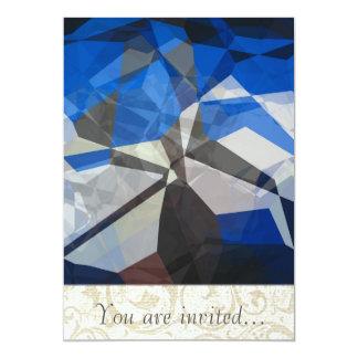 Polígono abstratos 257 convite 12.7 x 17.78cm
