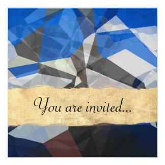 Polígono abstratos 257 convites personalizado