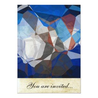 Polígono abstratos 258 convite 12.7 x 17.78cm