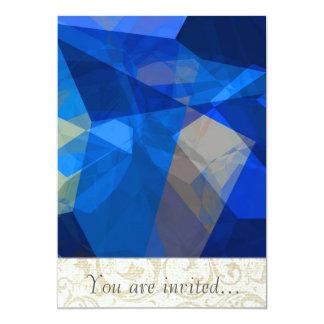 Polígono abstratos 259 convites personalizados