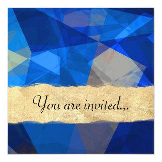 Polígono abstratos 259 convite quadrado 13.35 x 13.35cm
