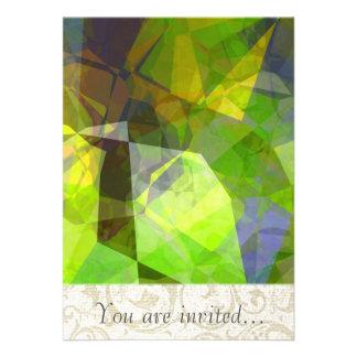Polígono abstratos 25 convite personalizados