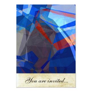 Polígono abstratos 260 convites personalizados