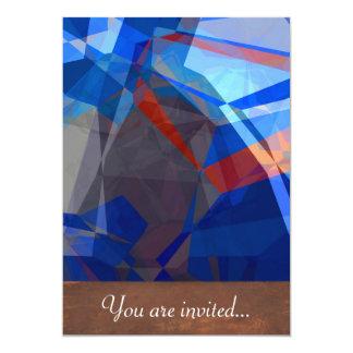 Polígono abstratos 260 convite personalizado