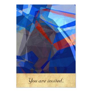 Polígono abstratos 260 convite 12.7 x 17.78cm