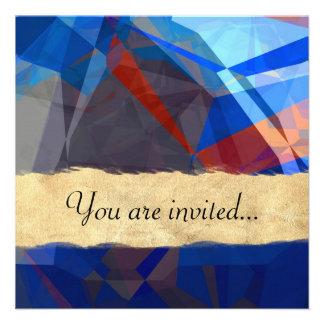 Polígono abstratos 260 convites