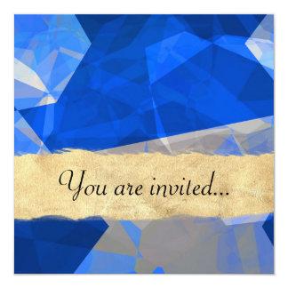Polígono abstratos 261 convite quadrado 13.35 x 13.35cm