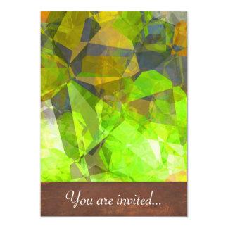 Polígono abstratos 26 convites personalizados