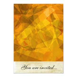 Polígono abstratos 27 convite personalizado