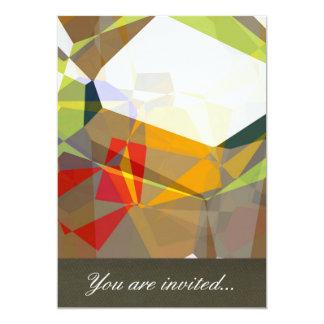Polígono abstratos 28 convite 12.7 x 17.78cm