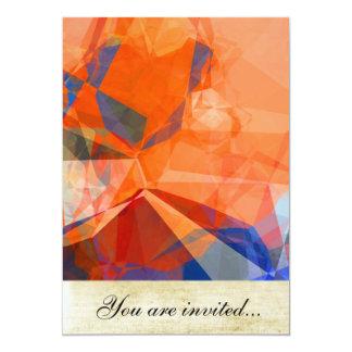 Polígono abstratos 30 convite 12.7 x 17.78cm