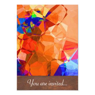 Polígono abstratos 32 convite 12.7 x 17.78cm