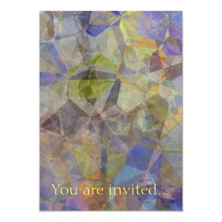 Polígono abstratos 33 convite 12.7 x 17.78cm