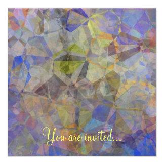 Polígono abstratos 33 convite quadrado 13.35 x 13.35cm