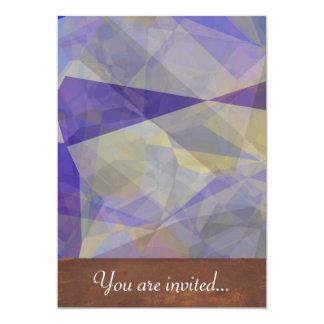 Polígono abstratos 34 convite personalizados