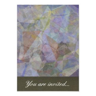Polígono abstratos 35 convite personalizados