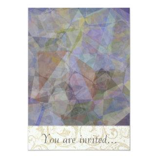 Polígono abstratos 35 convite 12.7 x 17.78cm