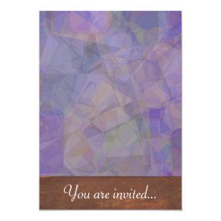 Polígono abstratos 37 convite personalizados