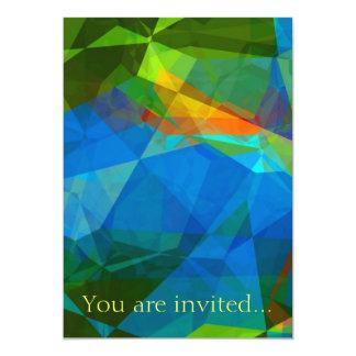 Polígono abstratos 39 convites personalizado
