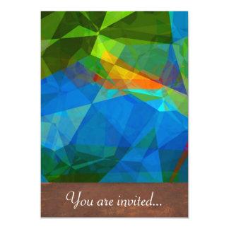 Polígono abstratos 39 convites